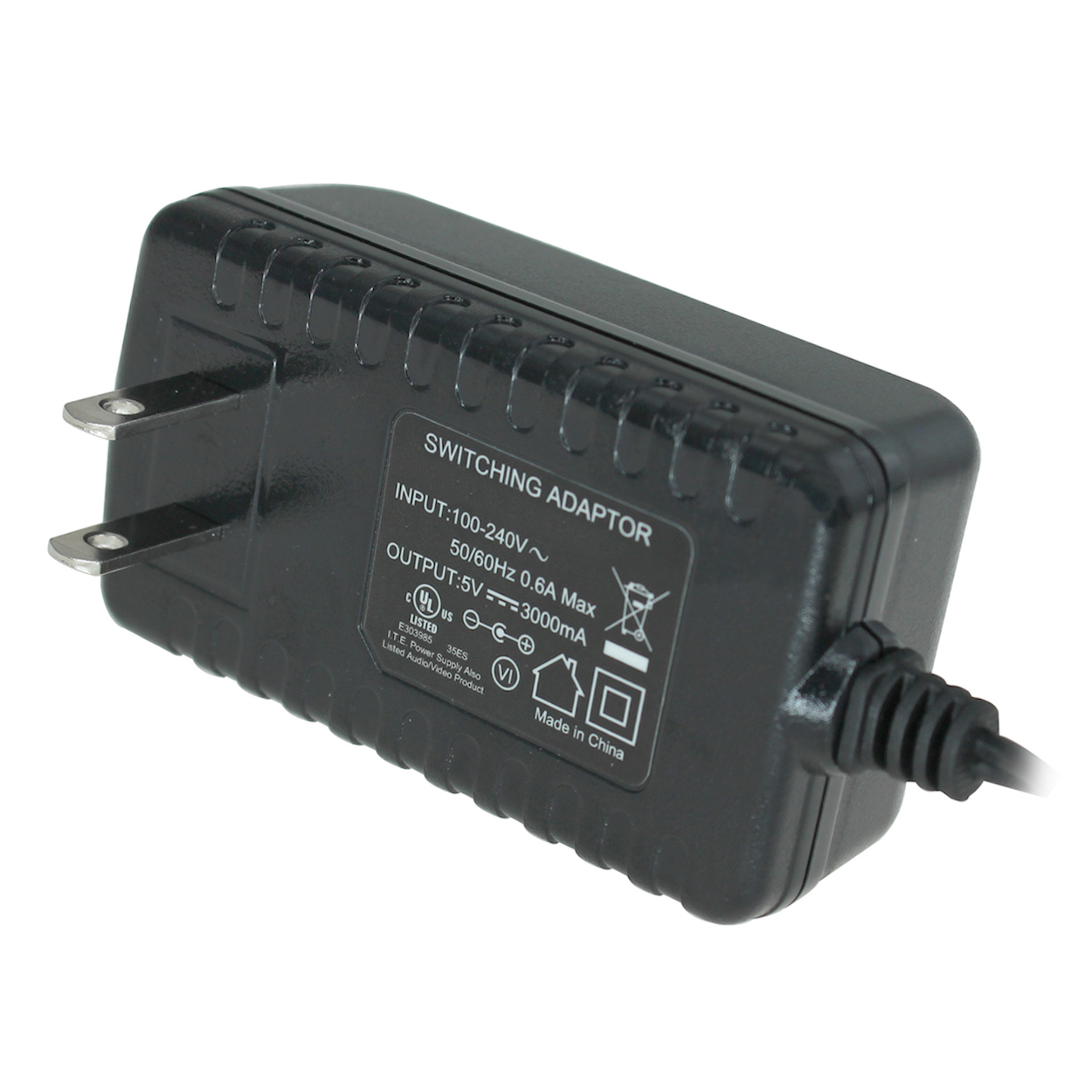 5v Dc Power Adapter 3a Output 100 240v Ac Input 21mm Id 55mm Regulated Supply
