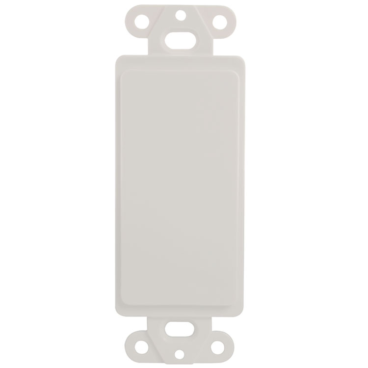 Decora Type Blank Wall Plate Insert - White