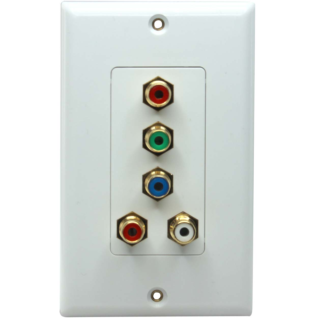 5 Port Decora Rca Connector Wall Plate Female To Female