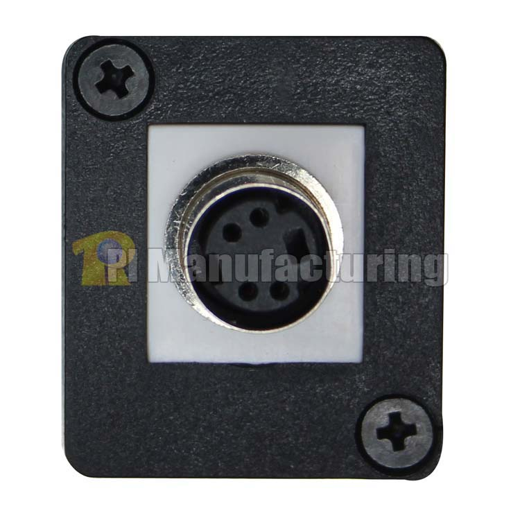 S-Video Connector Keystone Type Chassis Mount, Male to Female