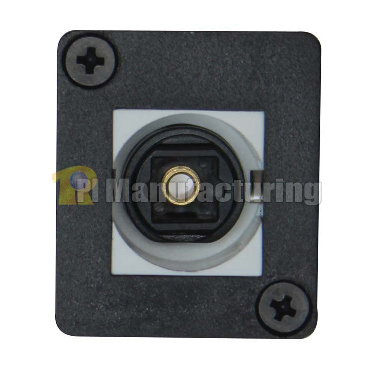 Fiber Toslink Keystone Type Chassis Mount, Female to Female