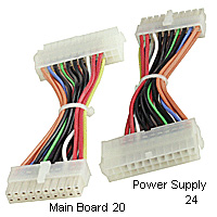 6 inch Power Supply 24-pin Male to 20-pin female Motherboard Adapter Cable ATX12V 2.x