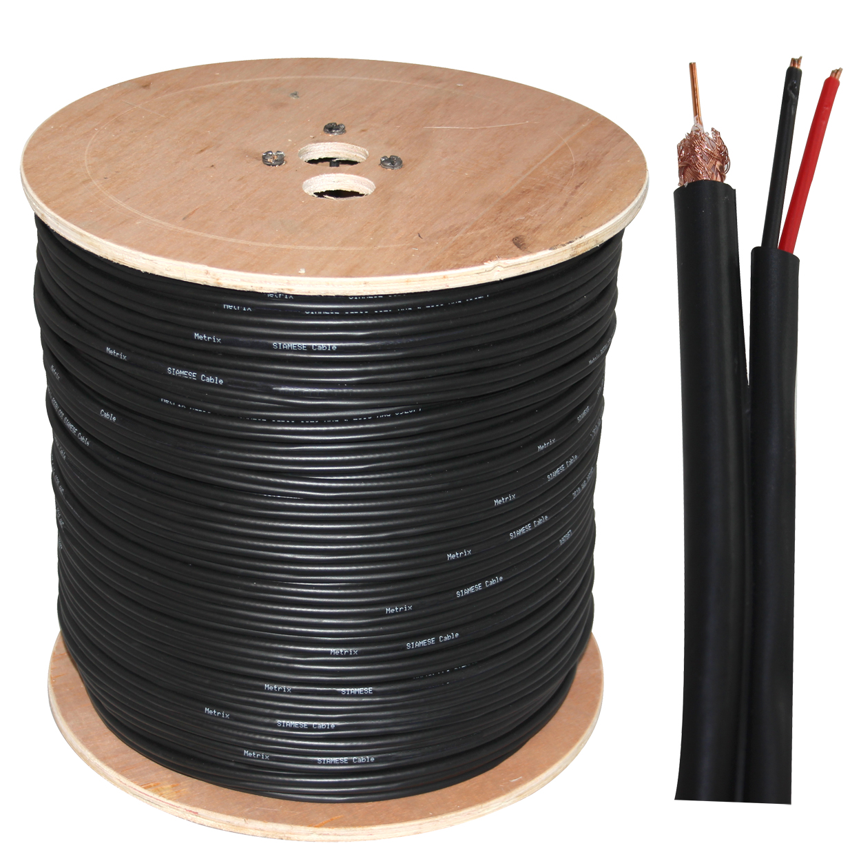 1000ft RG6 Dual Shielded + Power Siamese Cable - Black (18AWG Bare ...
