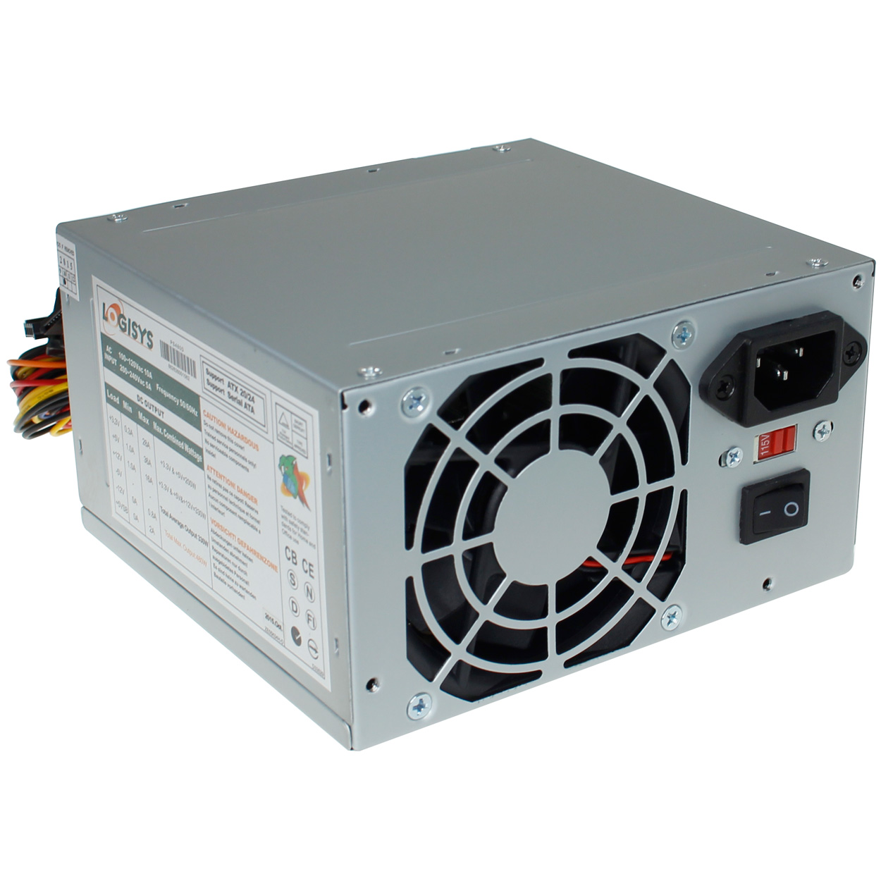 Computer ATX 480W Power Supply - Silver