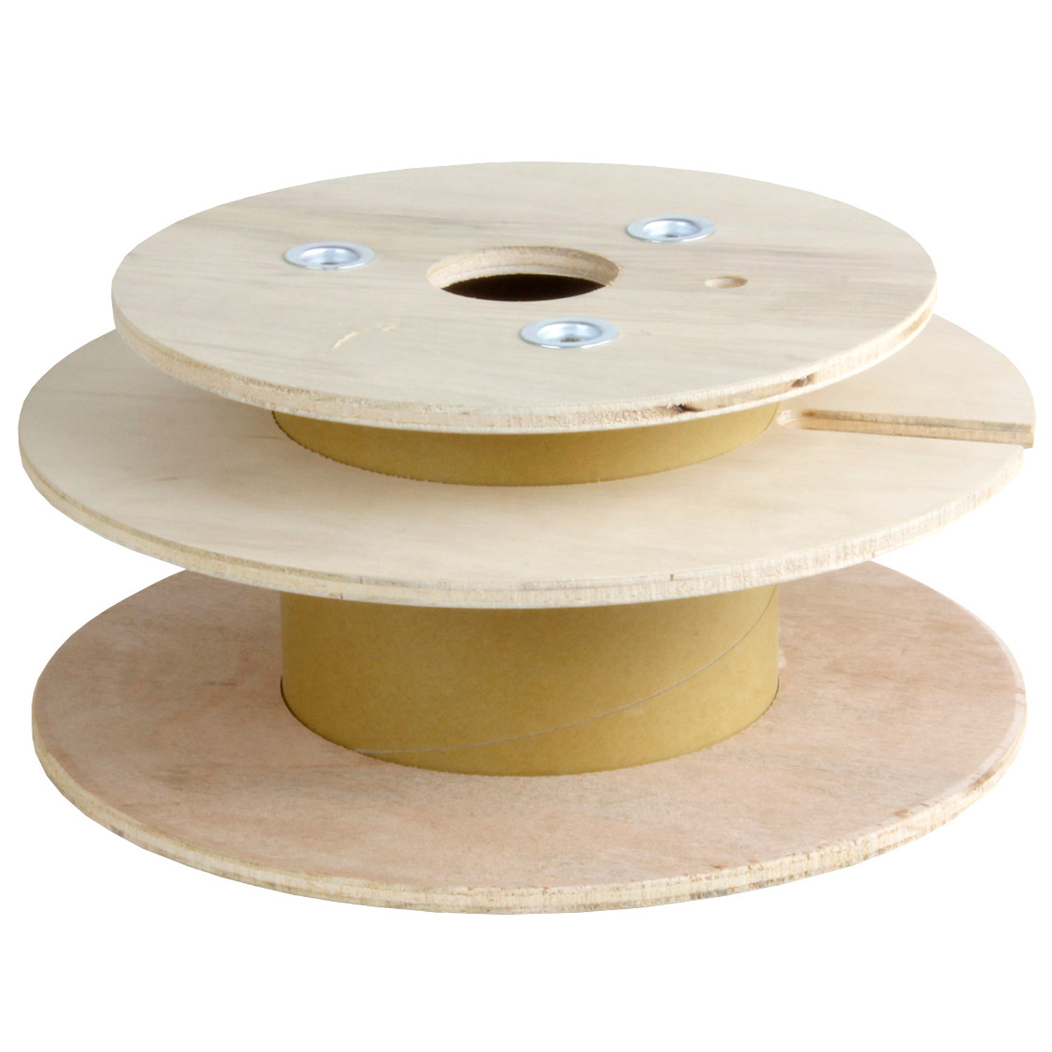 Plywood Cable Reel with Separation Layer (Fits up to 3mm OD Cable at 1000ft)