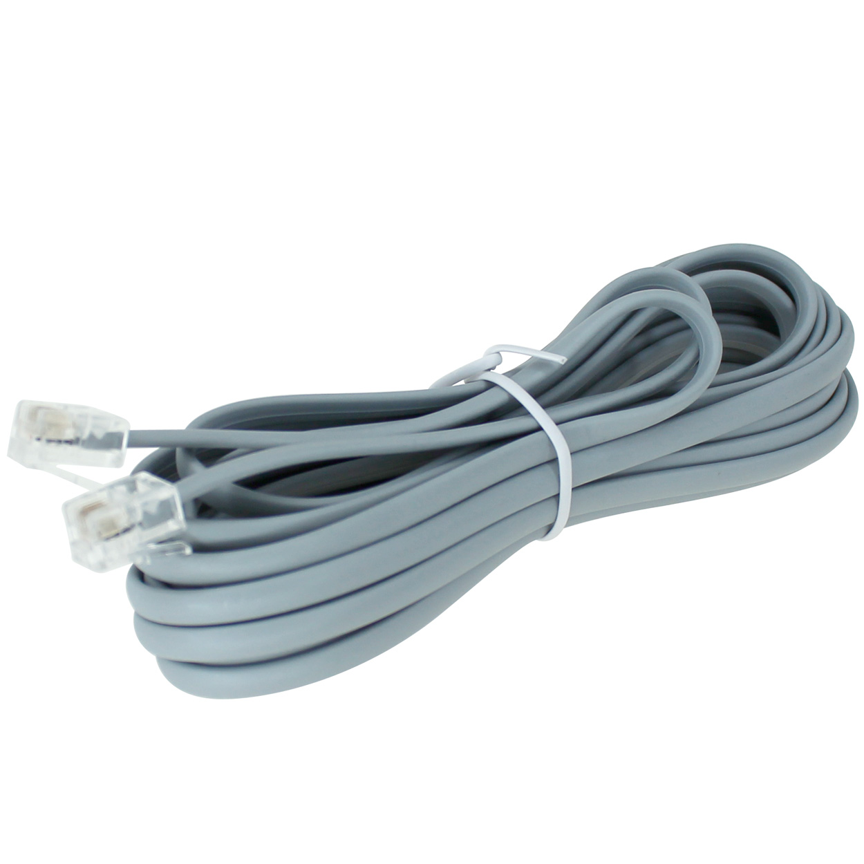 14ft 28AWG RJ11 6p4c Phone Cable, Straight, Bare Copper - PI ...