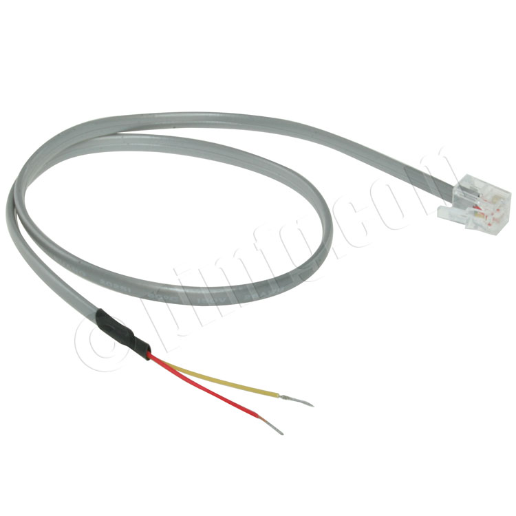 rj11 6p2c plug to open wire cable  1 5ft  transmit rs 485