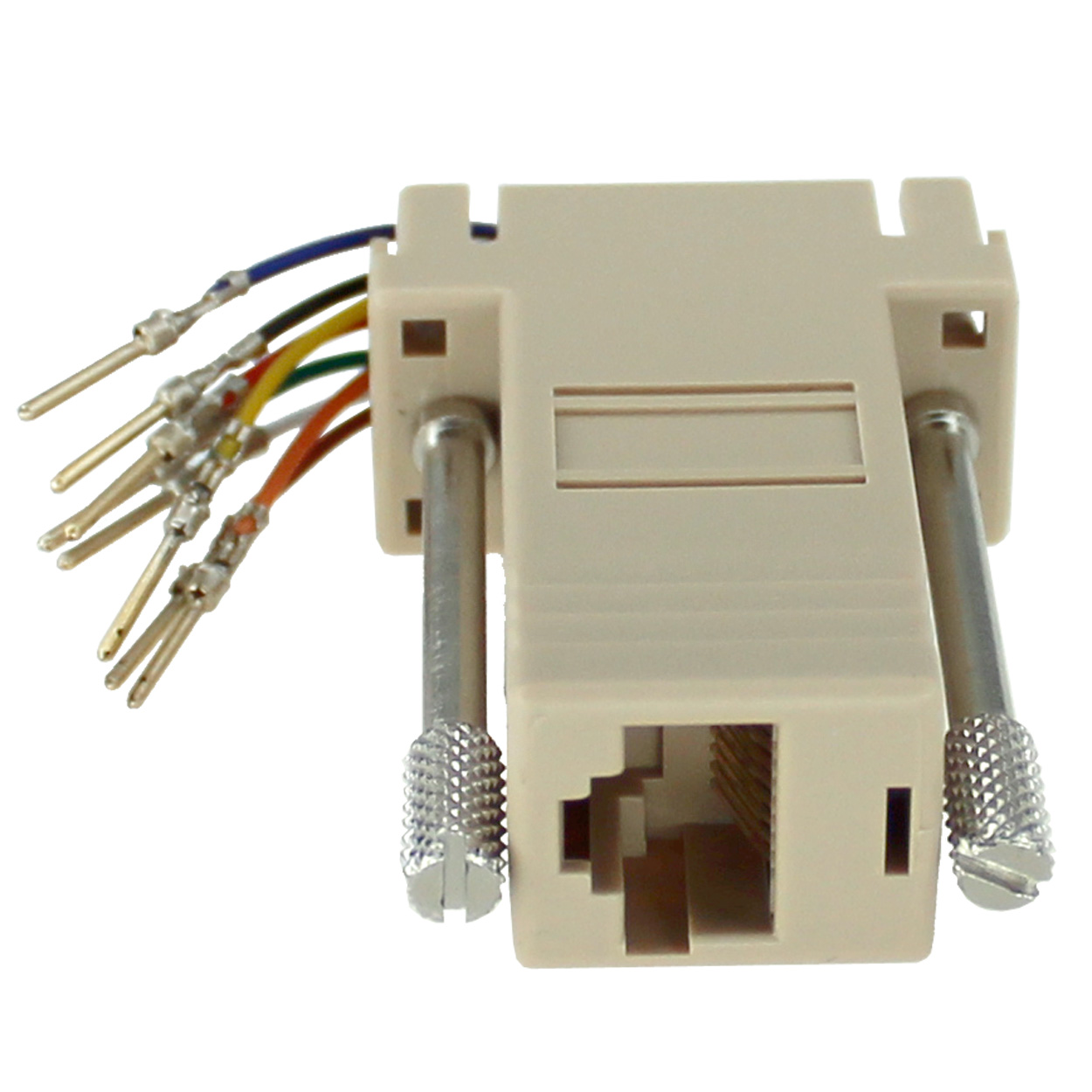 RJ45 to DB9 Male Modular Adapter - Beige - PI Manufacturing