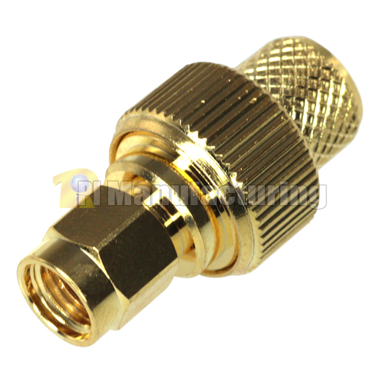 Sma Male Crimping Connector For Lmr 400 Cable Gold Pi