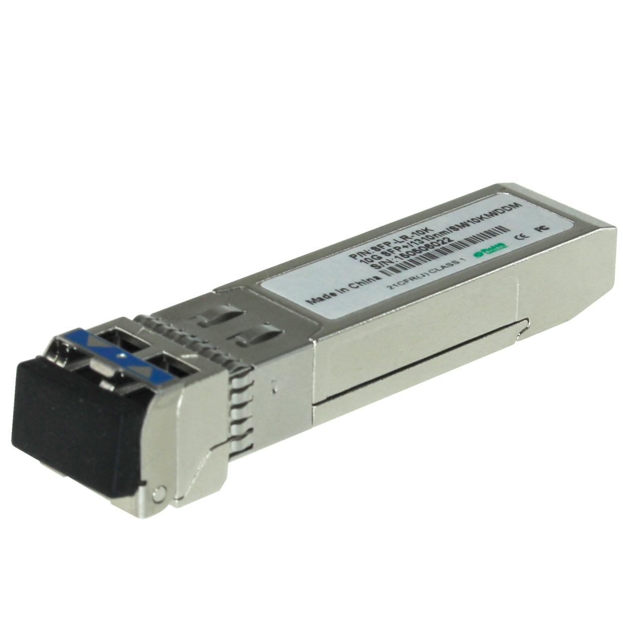Cisco Compatible 10GBASE-LR SFP+ Transceiver LC Single-mode Duplex Fiber Gigabit 1310nm, with DDM, Up to 10 Km