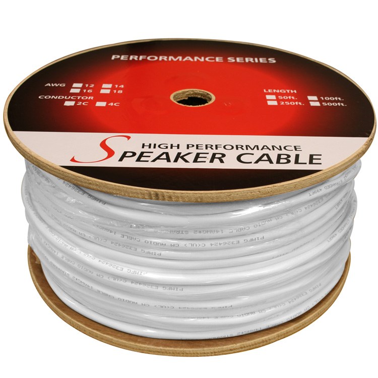50ft 14AWG 2 Wire CM Rated Speaker Wire Cable (For In-Wall Installations)