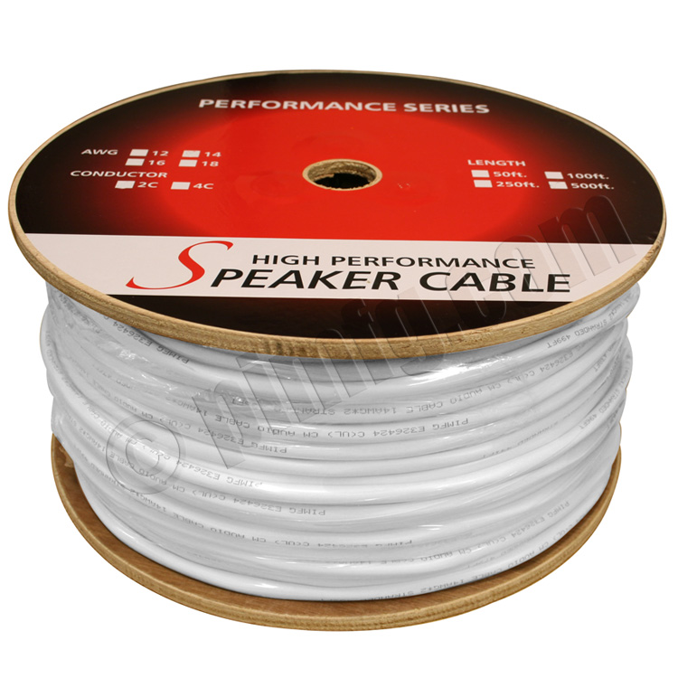250ft 16AWG 2 Wire CM Rated (Higher Rating than CL2 and CL3) Speaker Wire Cable (For In-Wall Installations)