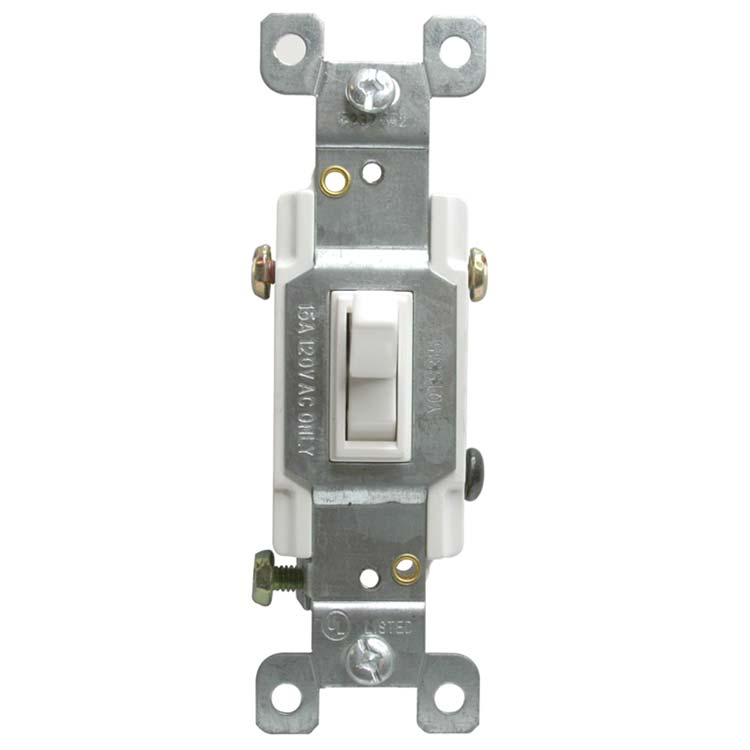 Toggle Switch 120vac 15A 3 Way (GFCI) Receptacle
