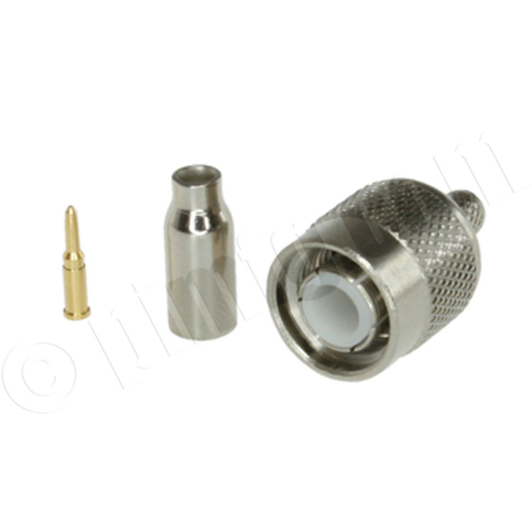 TNC Male Crimping Connector, for Cable RG58, RG-142, HPF-195, LMR-200, RG400
