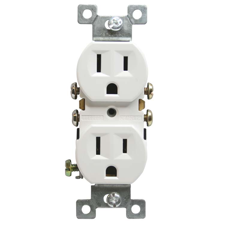 Standard Duplex Receptacle 2 Pole 3 Wire 15a 125v