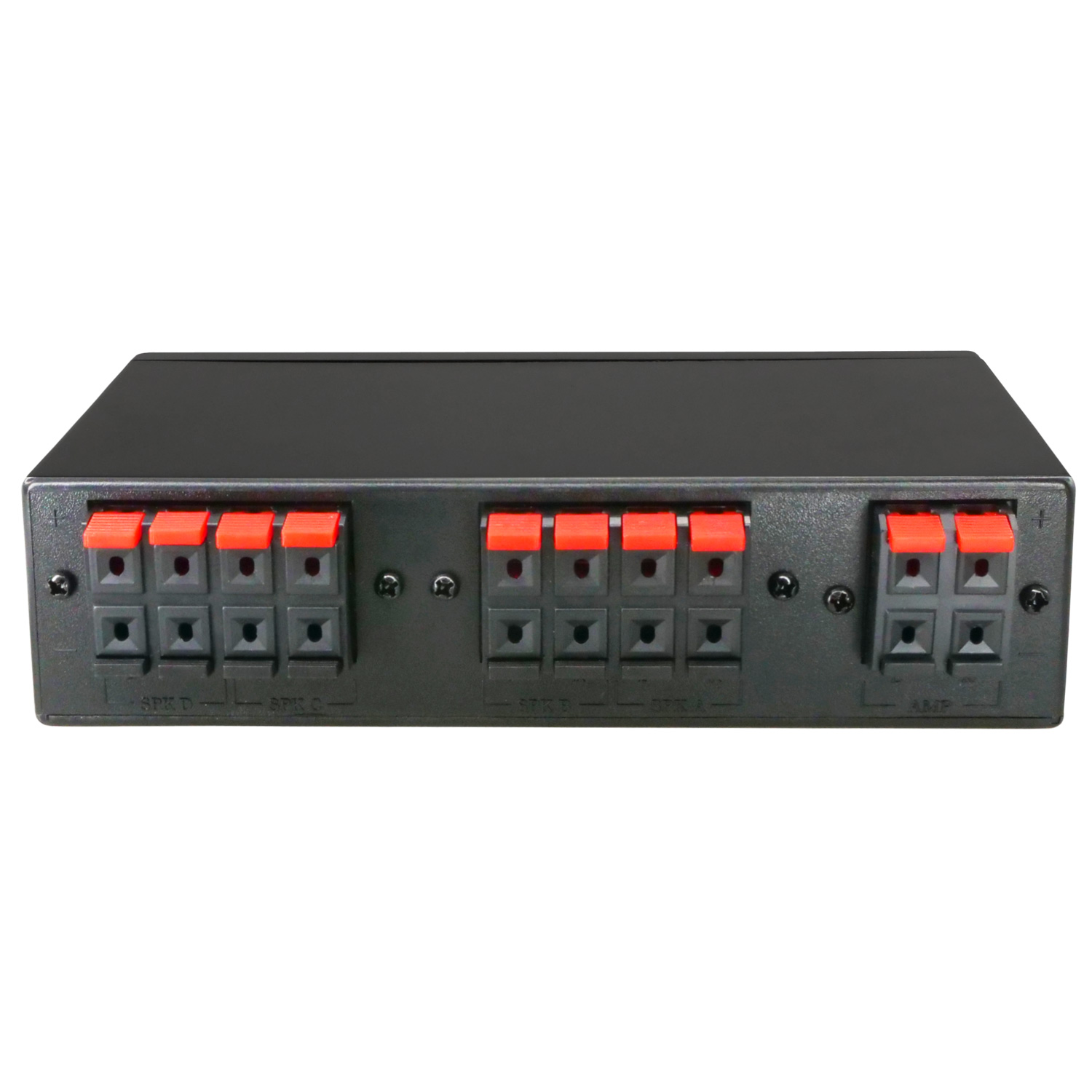 4 Way Stereo Speaker Selector Switch, 1 Input to 4 Output, Terminal ...