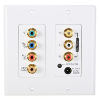 IR Extender Over Cat5 Wall Plate, Component RGB, Digital Audio, Composite  RCA, and IR