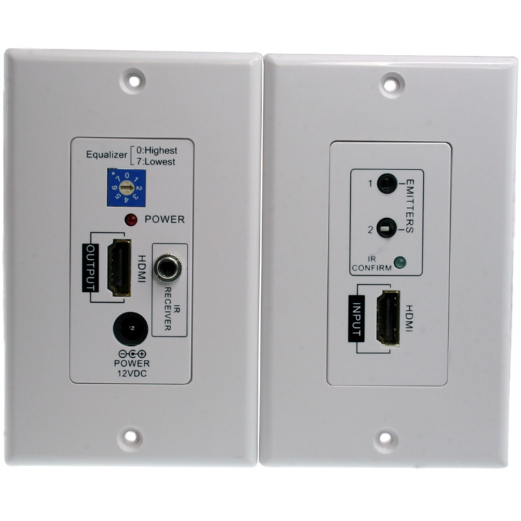 Awesome Hdmi Remote Control Ir Extender Wall Plate 1080P 100Ft 30M Basic Wiring 101 Capemaxxcnl