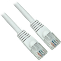 3ft Molded UTP Cat5e Network Cable, CCA - White