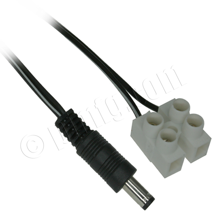 6ft Power Male (DC Plug) to Screw Mount Cable