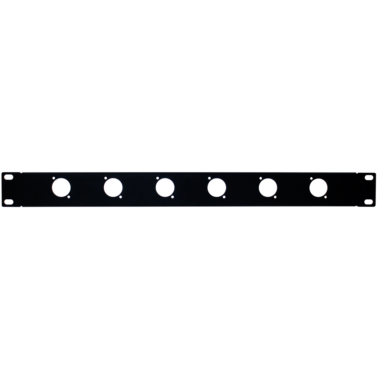 19 inch Unloaded Panel for 6 XLR, 1U - Black