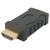 HDMI Male to Female Molded Adapter / Gender Changer