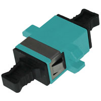 MPO Adapter with Flange Keyway Convertible - Aqua For FAPP-1U-3CT-RK and FAPP-1U-5CT-RK MPO Back panel