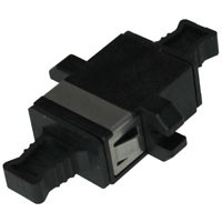 MPO Adapter with Flange Keyway Convertible - Black For FAPP-1U-3CT-RK and FAPP-1U-5CT-RK MPO Back panel