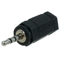 2.5mm Male to 3.5mm Female Stereo Audio Adapter