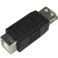 USB Type-A Female to Type-B Female Adapter