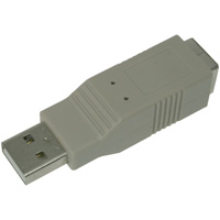 USB Type-A Male to Type-B Female Adapter Blue