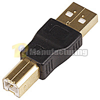 USB Type-A Male to Type-B Male Adapter