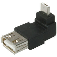 USB A Female to Micro-USB A Male 90-Degree