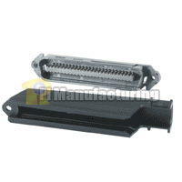 Telco 50 Pin Male Plastic Hood 90d Connector