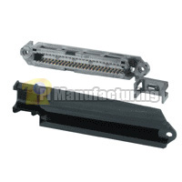 Telco 50 Pin Female Plastic Hood 90d Connector