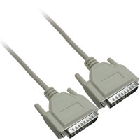 RS-232, Serial Cable DB25 Male to Male Cable, 10ft