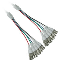 8ft 5 BNC Male to 5 BNC Male Monitor Cable