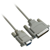 XT to Hayes Modem Cable, DB25 Male to Female, 6ft