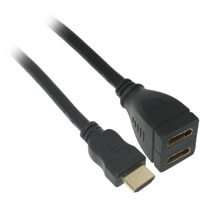1ft HDMI Male to 2 x HDMI Female Splitter Adapter Cable