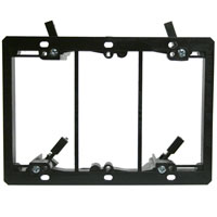 3-Gang Mounting Bracket for Low Voltage Wiring