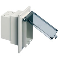 1-Gang Low Profile Recessed Electrical Box for Flat Surfaces