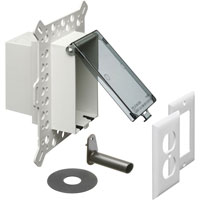 1-Gang Low Profile Recessed Electrical Box for New Stucco, Textured Surfaces, and Rigid Siding