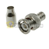 BNC Male Connector for RG59, Quick Crimp Type, Body and Ring, 10pcs/bag