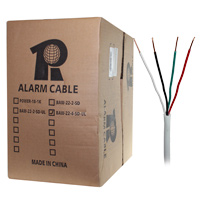1000ft 22AWG 4 Wire Security Alarm Cable, Solid Copper, Unshielded Solid, UL Listed