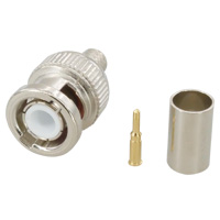 BNC59 Male Connector, Crimp Type for RG59