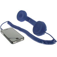 Retro Phone Handset with 3.5mm Stereo Cable - Blue