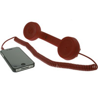 Retro Phone Handset with 3.5mm Stereo Cable - Red