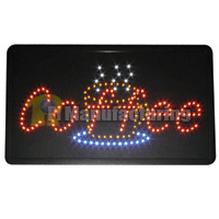 Coffee LED Sign 22x13x1.6inch