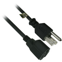 50ft 14AWG AC Power Extension Cord (NEMA 5-15P to NEMA 5-15R) - Black
