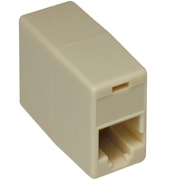 Modular Inline Coupler 6p6c to 6p6c Reverse (Phone / Network)